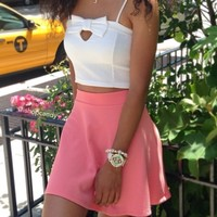 iShopCandy.com | Loons Pink Skater Skirt