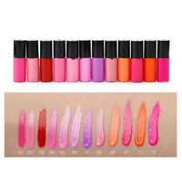 12pcs/set Women Moisture long lasting lip gloss matte Waterproof Lipgloss Make Up Lip Gloss korean liquid lipstick M01501