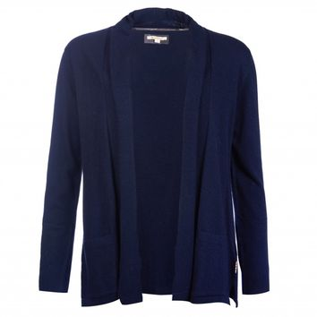 Manor Cardigan in Navy by Barbour