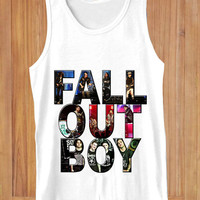 FALL OUT BOY  design clothing lives for Tank Top Mens and Tank Top Girls