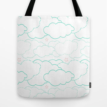 Cloud Dash Tote Bag by Ariel Lark