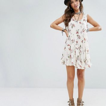 Glamorous Smock Dress With Tie Back In Romantic Floral at asos.com
