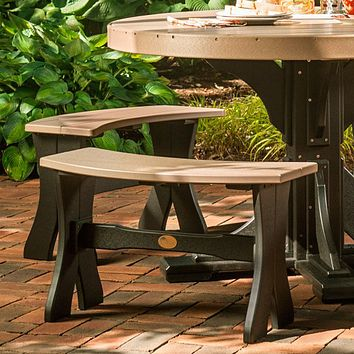 LuxCraft Recycled Plastic Table Bench