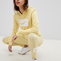 Nike Swoosh Logo Hoodie In Lemon at asos.com