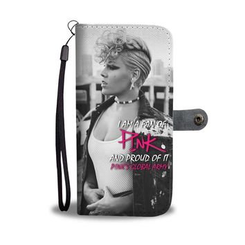 KUYOU A Proud P!nk Fan P!nk Global Army Wallet Phone Case