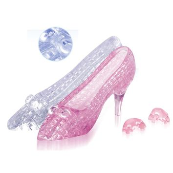 3D crystal puzzle high heeled shoes cute glass slipper