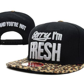 Sorry I'm Fresh Snapback New Era Baseball Cap Black