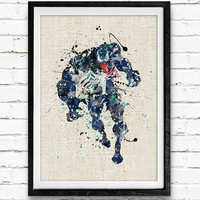 Venom Spider-Man Watercolor Poster Print, Superhero Watercolor Print, Kids Bedroom Wall Art, Home Decor, Not Framed, Buy 2 Get 1 Free
