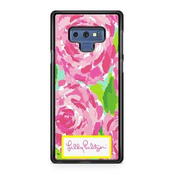 Lilly Pulitzer First Impression Rose Inspired Samsung Galaxy Note 9 Case   Casefruits