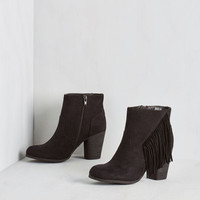 Boho Live Music to My Ears Bootie in Black by Madden Girl from ModCloth