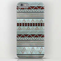 Harry Tribal Print Potter- Horcrux Blue iPhone & iPod Case by E.M. Blood