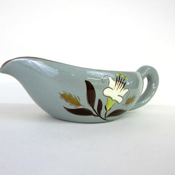 Stangl  Pottery  - Golden Harvest - Gravy Boat - Vintage Pottery - Vintage Table - Mid Century - USA Pottery -