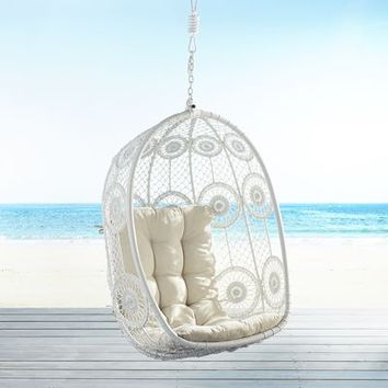 La Fleur White Swingasan Hanging Chair