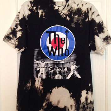 The Who Bleached, tie dyed unisex shirt size medium.one of a kind t shirt