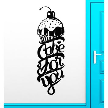 Vinyl Wall Decal Cake For You Bakery Bakeshop Kitchen Decor Stickers (3492ig)