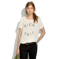 Bien Fait Tee - short sleeve - Women's TEES & MORE - Madewell