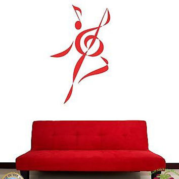 Wall Stickers Vinyl Decal Funny Sheet Dancing Guitar Music z1135
