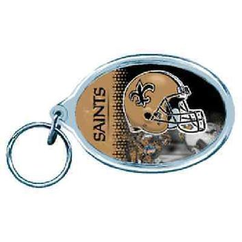 NEW ORLEANS SAINTS WINCRAFT ACRYLIC KEY RING BRAND NEW  SHIPPING