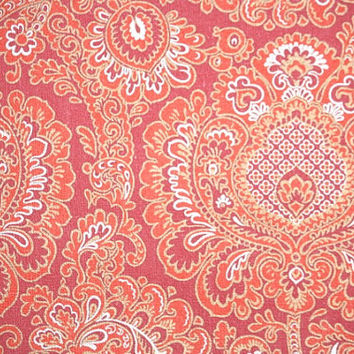 1970's Retro Wallpaper – Vintage Amazing Red Paisley pattern
