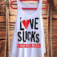 Love sucks a Punk rock Music Musical best design for Tank top mens and Tank top Girls fashion
