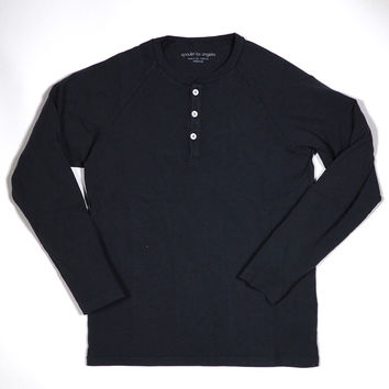 Long Sleeve Henley 8oz Union Jersey Tee Black by Epaulet Los Angeles | Epaulet New York