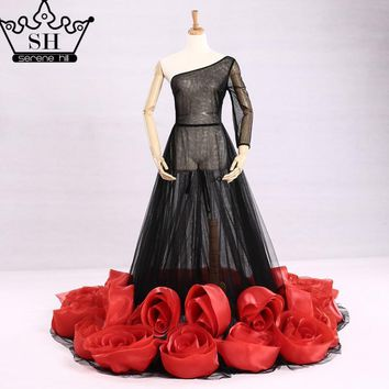 Pregnancy Photography Red Rose See Though Sexy Evening Dress Long  Evening Dress 2017 Real Picture Serene Hill
