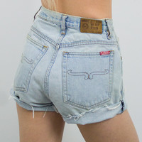 Vintage (Size XS) Distressed High Waisted Denim Shorts