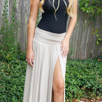 Slit Decision Maxi Skirt