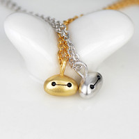 Gold/Silver [Big Hero] Baymax Sterling Silver Pendant Necklace SP152857