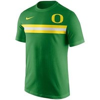 Oregon Ducks Men's Shirt Nike Team Stripe T-Shirt Green