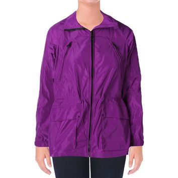 Lauren Ralph Lauren Womens Drawstring Waist Long Sleeves Anorak Jacket