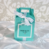 Baby Shower Favors - Tiffany & Co. Inspired Gable Box - 1 Dozen
