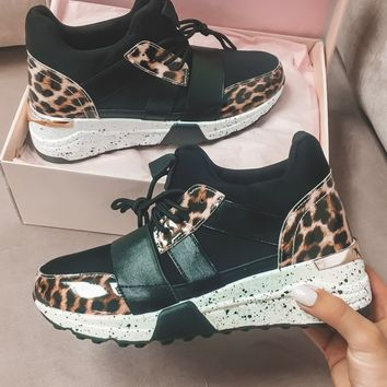 Big Timer Leopard Collage Sneakers
