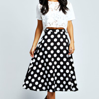 Alice Polka Dot Full Circle Midi Skirt