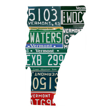 Vermont License Plate wall decal