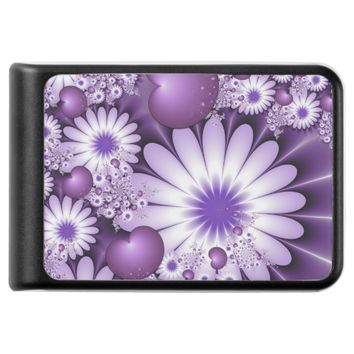 Falling in Love Abstract Flowers & Hearts Fractal Power Bank