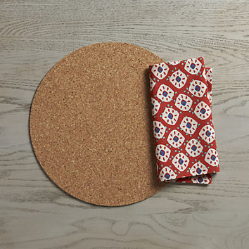 Round Cork Reversible Placemat