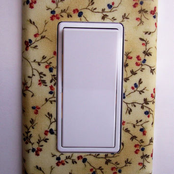 Summer Floral Sprigs Rocker / GFI Switch Plate, wall decor