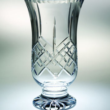"""Majestic Gifts PL-115-8 Hand Cut Crystal Footed Vase, 8""""H"""