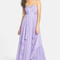 Way-In Embellished Chiffon Gown (Juniors) (Online Only)