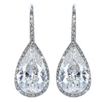 Brilliant 6.14ctw Diamond Drop Earrings