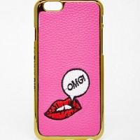 Skinny Dip Embroidered Lips iPhone 6 Case