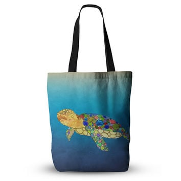 "Catherine Holcombe ""Bubbles"" Blue Turtle Everything Tote Bag"