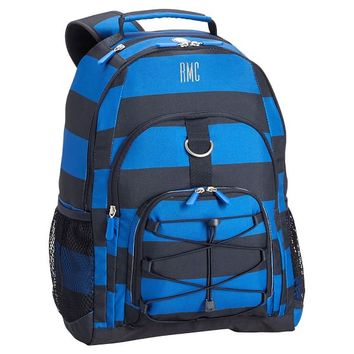Gear-Up Blue/Navy Rugby Stripe Backpack