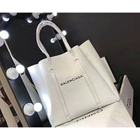 "Hot Sale ""Balenciaga"" Stylish New Women Shopping Bag Personality Leather Handbag Bag Shoulder Bag White I-AGG-CZDL"