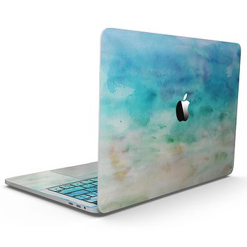Blushed Mint 32 Absorbed Watercolor Texture - MacBook Pro with Touch Bar Skin Kit