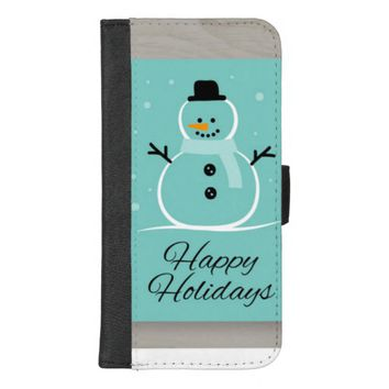 Holiday Snowman iPhone 8/7 Plus Wallet Case
