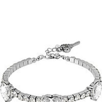 BetseyJohnson.com - ICONIC CRYSTAL HEART COIL BRACELET CLEAR