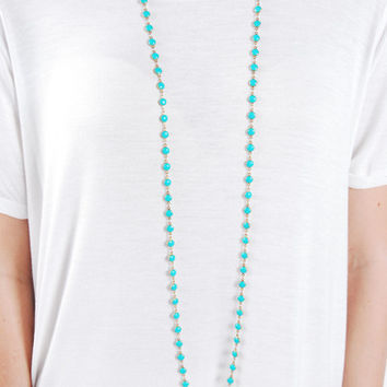 The Daisy Necklace - Turquoise