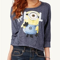 #LOL Minion Crop Dolman Top